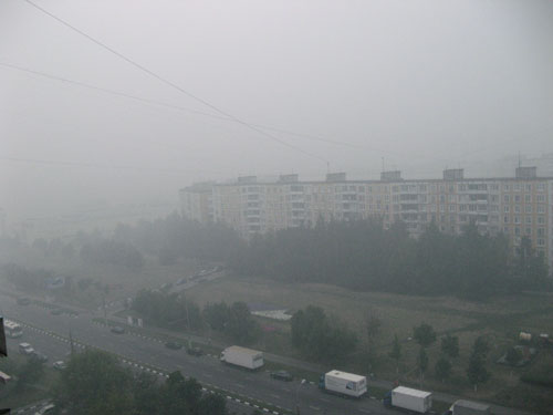 Smog in Moscow on 04.08.10